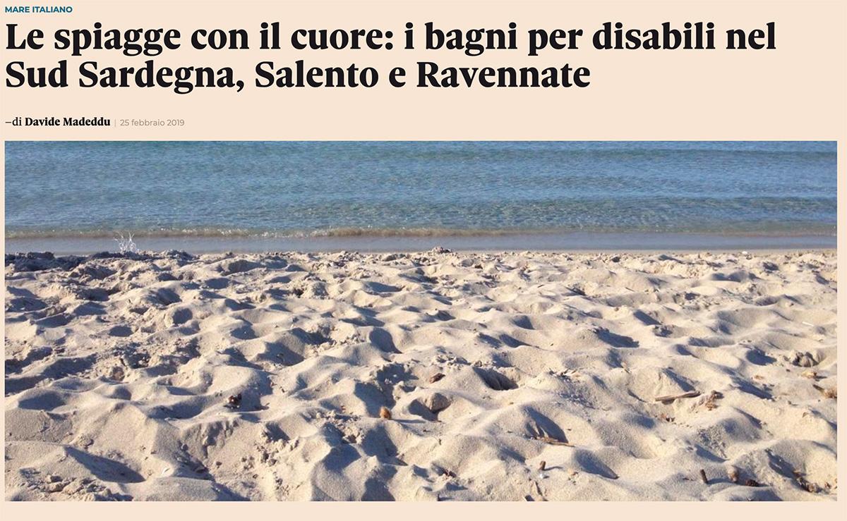 Il Sole 24 Ore parla di noi e delle altre spiagge italiane dedicate ai disabili
