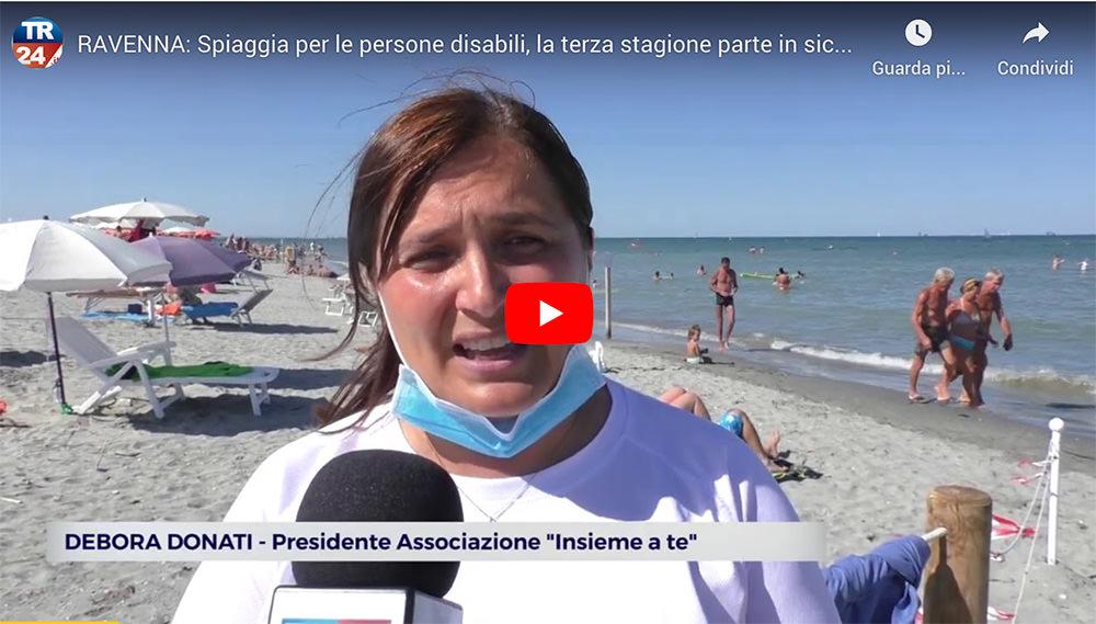 Ravenna: spiaggia per le persone disabili, la terza stagione parte in sicurezza [da Teleromagna 24]