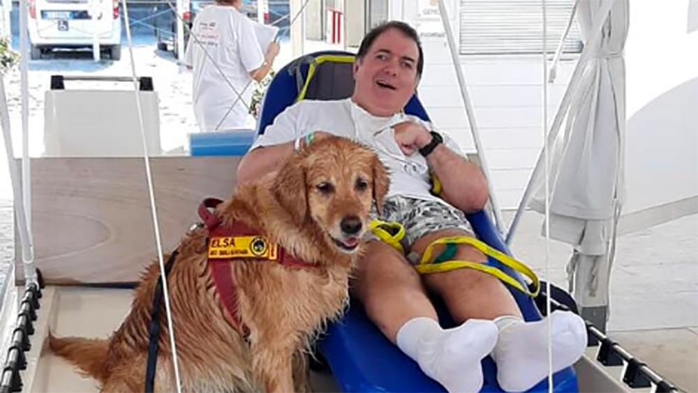 """La magica giornata di Claudio nella spiaggia accessibile: """"Mi hanno fatto dimenticare la mia disabilità"""" [da ravennatoday.it]"""