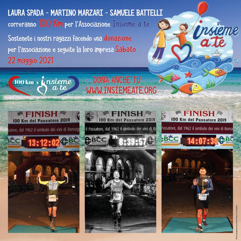 Laura, Samuele e Martino: 100 Km per Insieme a Te